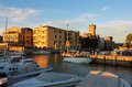 Yacht port in Sirmione, Italy Royalty Free Stock Photo