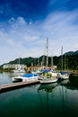 Yacht at quay telaga harbour langkawi malaysia Royalty Free Stock Photography