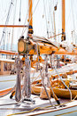 Yacht rigging photo of luxury Royalty Free Stock Photos