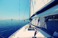 Yacht sailing Royalty Free Stock Photo