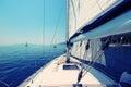 Yacht sailing Royalty Free Stock Photo