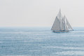 Yacht sailing the sea Royalty Free Stock Photography