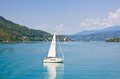 Yacht worthersee austria on lake worth Stock Photos