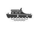 Yachting Boat Outline Icon