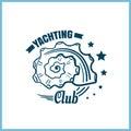Yachting Club Badge With Seashell