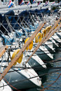 Yachting detail close up of water sport equipment Royalty Free Stock Images