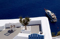 Yachting in Santorini Royalty Free Stock Photo
