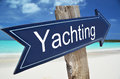 Yachting sign on the beach Royalty Free Stock Image