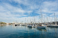 Yachts in the bay of Barcelona
