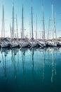 Yachts in the bay docks at Trogir town, Dalmatia, Croatia