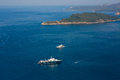 Yachts and boats in the Adriatic Sea