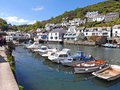 Yachts and boats in cornish harbour Royalty Free Stock Photo