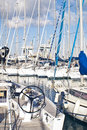 Yachts and boats in old port in palermo called cala italy Royalty Free Stock Photography