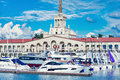 Yachts and boats in Sochi.