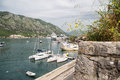 Yachts and cruise ships in kotor bay saiboat the of with luxury the background Royalty Free Stock Image