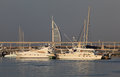 Yachts in Dubai Marina Royalty Free Stock Photo