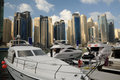 Yachts at Dubai Marina Royalty Free Stock Image