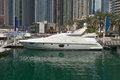 Yachts at dubai marina luxury united arab emirates Royalty Free Stock Photo