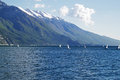 Yachts at Garda lake, Italy Royalty Free Stock Photo