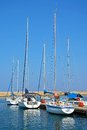 Yachts in the harbour, Chania.
