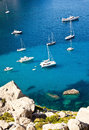 Yachts in mallorca bay spain majorca Stock Image
