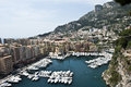 Yachts Monaco Coastline Royalty Free Stock Images