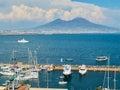 Yachts moored in Borgo Marinari harbor. Naples, Italy. Royalty Free Stock Photo