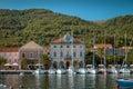 Yachts moored in marina on Hvar island, Croatia Royalty Free Stock Photo