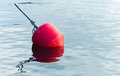 Yachts moorings red buoy Stock Images
