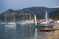 Yachts at Nidri Beach, Lefkada, Greece Royalty Free Stock Photo