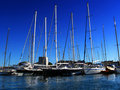 Yachts in port Royalty Free Stock Photos