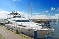 Yachts in the port of Volendam. Stock Photography
