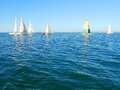 Yachts sailing on the sea Royalty Free Stock Photo