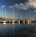 Yaght bay with blue sky, Royalty Free Stock Photo