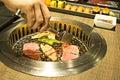 Yakiniku buffet that Japanese style barbecue Royalty Free Stock Photo