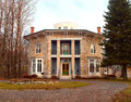 Yale cady octagon house newport new york usa november listed on the national registry of historic landmarks Stock Photography
