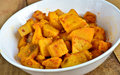 Yam curry vegetarian indian cuisine made from Stock Photography