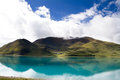 Yamdrok lake one of four holly in tibetan buddhism culture Royalty Free Stock Photography