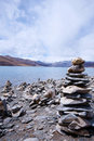 Yamdrok lake, Tibet Stock Images