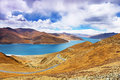 Yamdrok lake in tibet china yambdrok referred sheep less than kilometers away from lhasa and namtso ma yong measures and said the Royalty Free Stock Photos