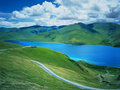Yamdrok Tso Lake Royalty Free Stock Photo