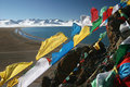 The Yamdrok Tso Praying Flags Stock Images