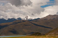 The yang lake and snow mountain Royalty Free Stock Photo