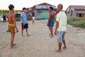 YANGON, MYANMAR - November 25, 2015: Young guys playing football