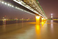 Yangtze river Bridge Wuhan China Royalty Free Stock Photography