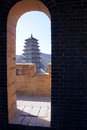 Yanmen pass the interior of fighting tower of in shanxi china Royalty Free Stock Images