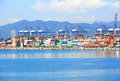 Yantian port day view of international container terminal shenzhen city china photo taken on aug Stock Photo