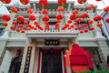 Yap kongsi clan house penang malaysia george town march decorated with chinese red lanterns armenian street george town Stock Photo