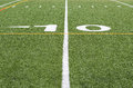 The 10 yard line Royalty Free Stock Photo