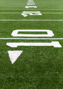 Yard lines on a football field Royalty Free Stock Photo